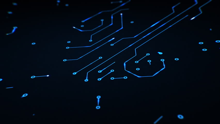 High Tech Computer Circuit Board Royalty-Free Stock Footage #25817531