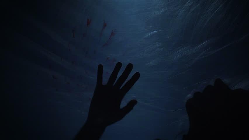 Dying silhouette of victim, creepy scene of murder, horror, slow-motion | Shutterstock HD Video #25845776