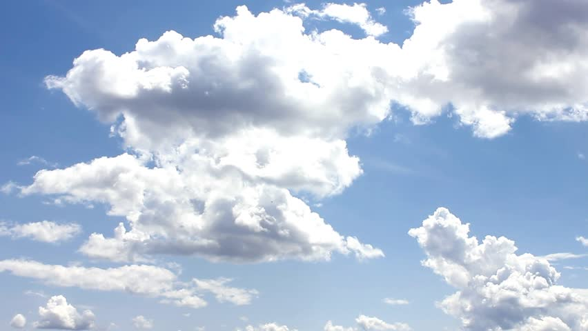 Nature, Nice Cloud & Sky, Timelapse rolling white mass -  1920x1080. :FHD