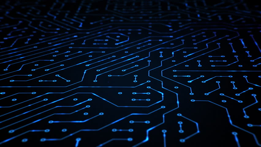 High Tech Computer Circuit Board Loop Royalty-Free Stock Footage #25876070