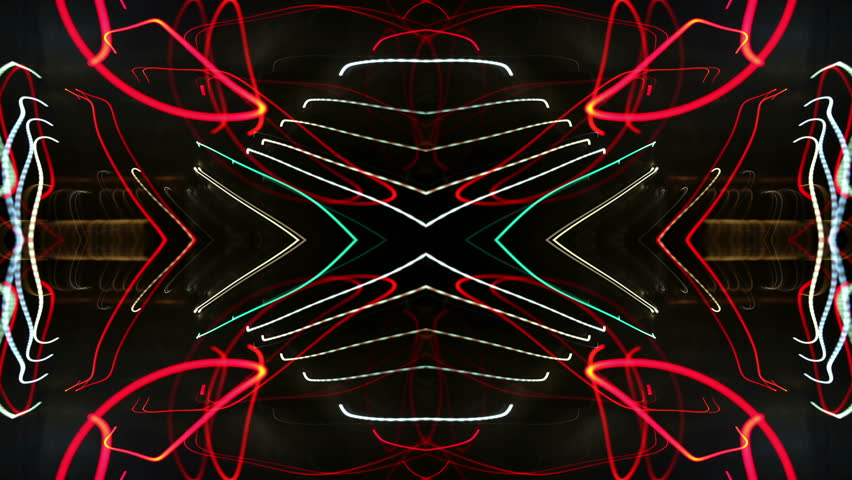 Abstract pattern made from time-lapse traffic and street scene shot at night | Shutterstock HD Video #2588777