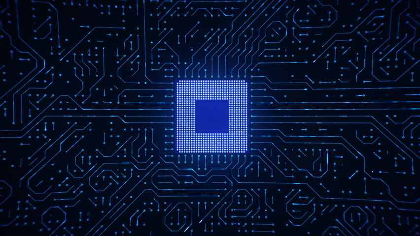 Microchip CPU Processor Turning On Royalty-Free Stock Footage #25901666