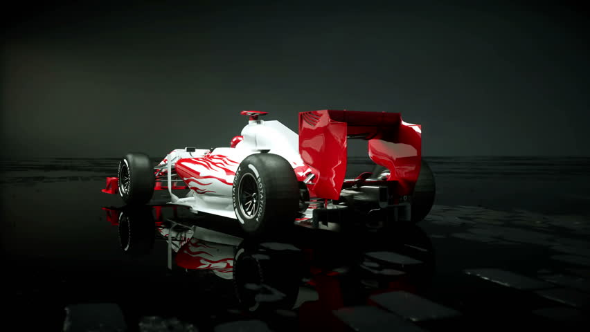 Race sport car in dark studio. realistic 4K animation. | Shutterstock HD Video #25925966