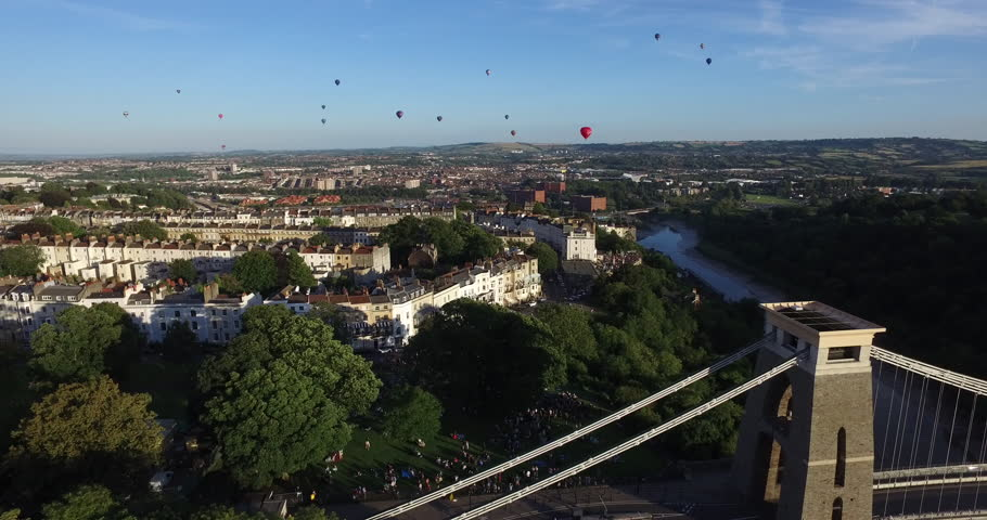 Bristol Balloon Fiesta Drone Footage 4k