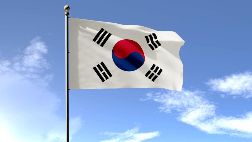 чёрная корея флаг фото место