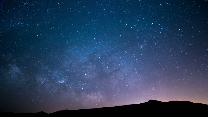 Milky Way Galaxy Spring Sky 59 Time Lapse Stars and Meteors