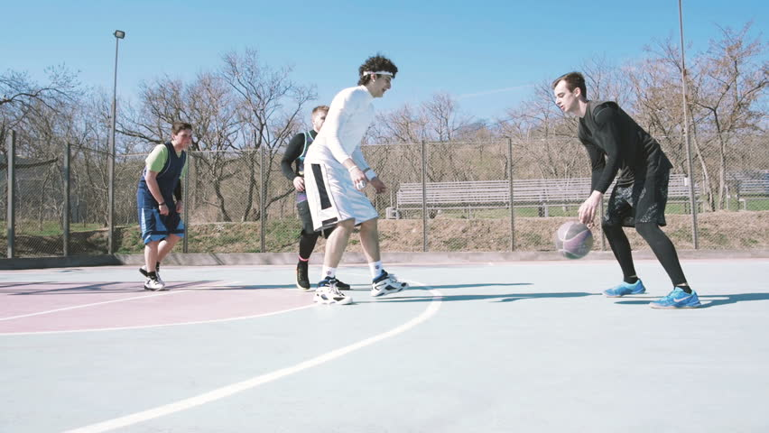 Group of People Playing Basketball Stock Footage Video (100% Royalty-free)  25999028   Shutterstock