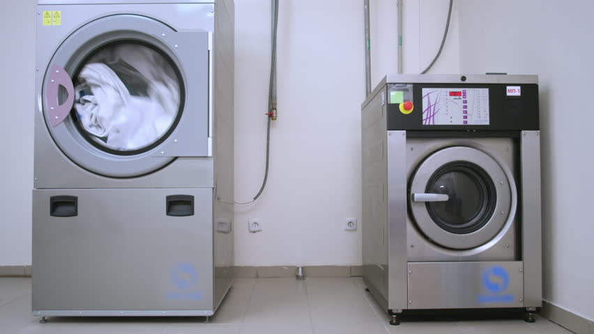 Industrial Washer Dryer Working. Hotel Stock Footage Video (100%  Royalty-free) 26002541 | Shutterstock