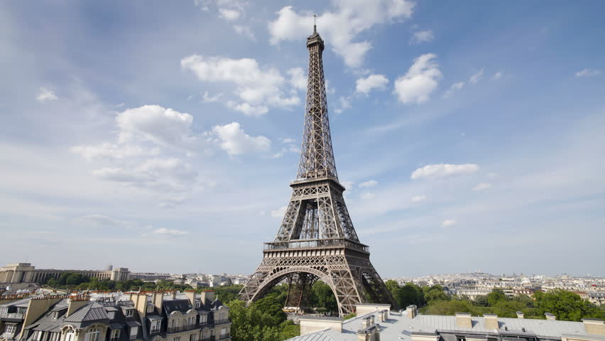 The World Famous Eiffel Tower Stock Footage Video 100 Royalty Free 2601017 Shutterstock