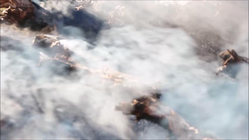 Smoldering fire smoke | Shutterstock HD Video #26096402