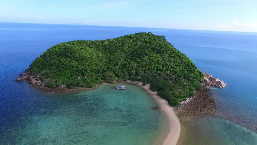 Aerial View of Sand Spit at Island Paradise Beach #26103539
