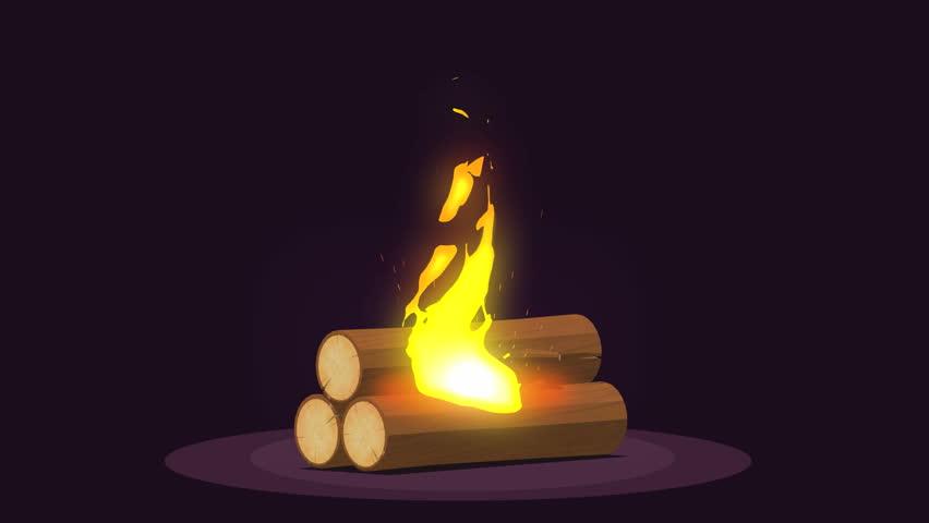 Bonfire - camping, burning woodpile. 3D render   Shutterstock HD Video #26142836