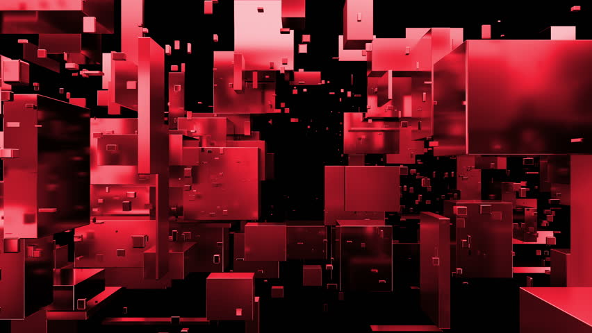 Loopabe 3d rendered sequence of moving metal cubes and rectangels. Random primitives forms on dark background. Reflective material. Abstract digital camera pass by. Technology theme. | Shutterstock HD Video #26161718