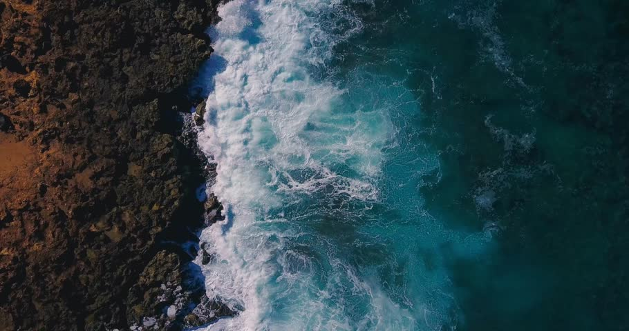 Wave splashing pattern with foam texture view from above | Shutterstock HD Video #26177600