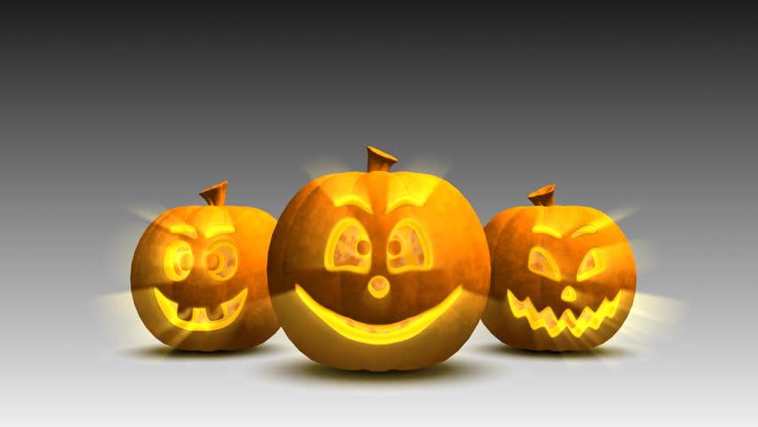 Halloween pumpkins having fun, loop | Shutterstock HD Video #2617991
