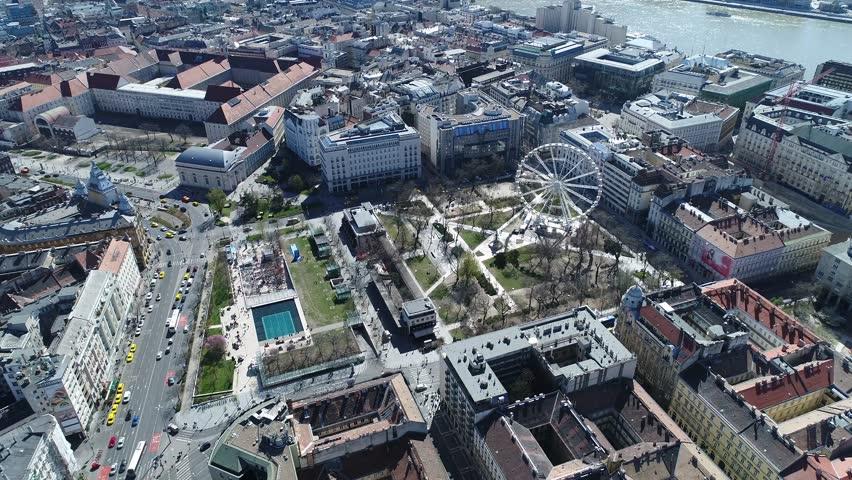 Aerial View Budapest Ferris Wheel  #26196488