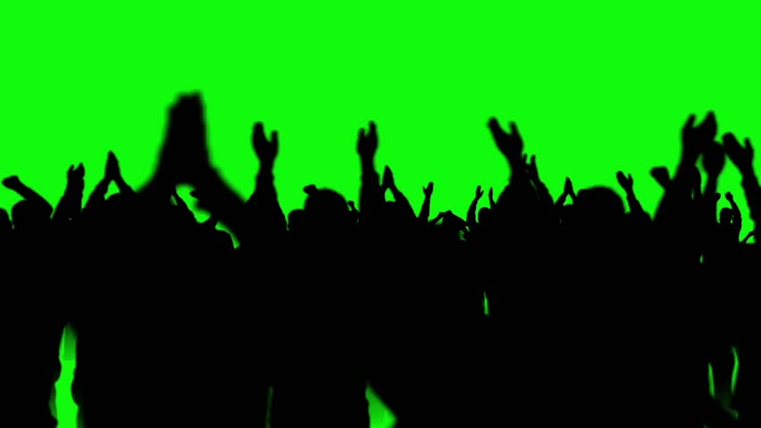 People Crowd Dance Discotheque Green Screen 3D Rendering Animation