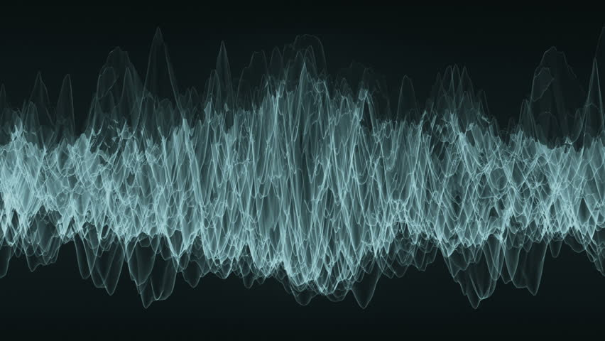Moving waveform shows unknown frequency. Loop ready animation of moving digital wave.