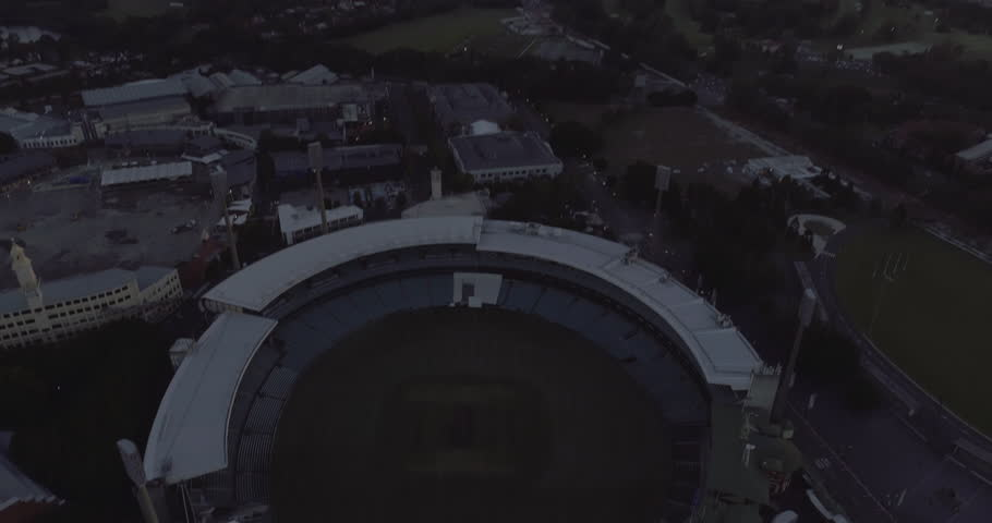 Birds eye view over Sydney Football Stadium - SFS -  Sydney Australia.