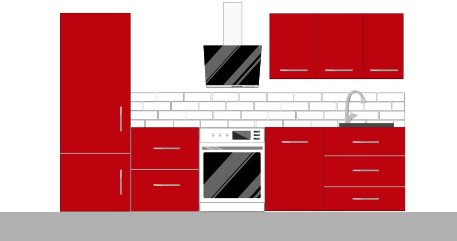 Modern Kitchen Interior Design With Stock Footage Video 100 Royalty Free 26210054 Shutterstock