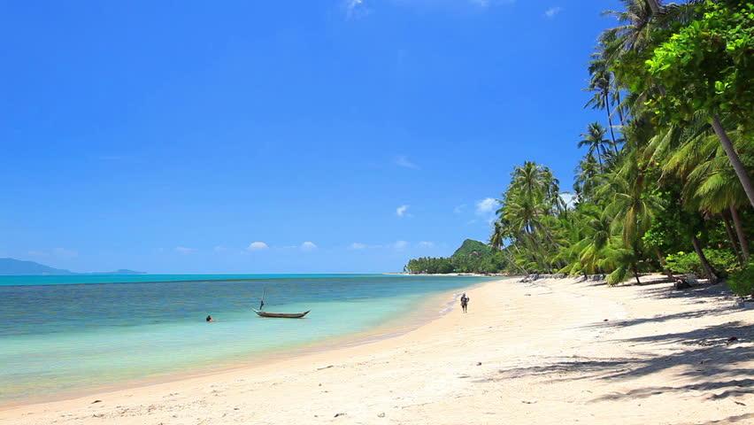 Waves landing on sandy beach   Shutterstock HD Video #2623271
