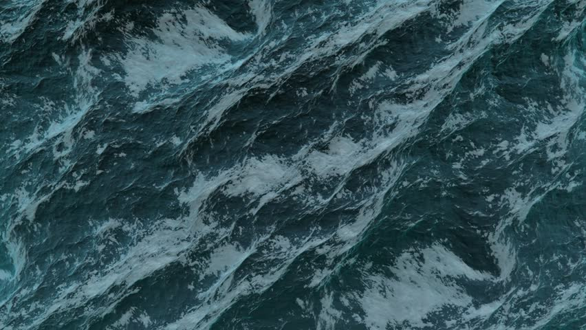 Storming ocean texture, top view in Full HD | Shutterstock HD Video #2623664