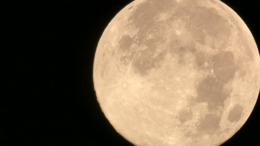Full Moon Jet fly by real time | Shutterstock HD Video #2625833