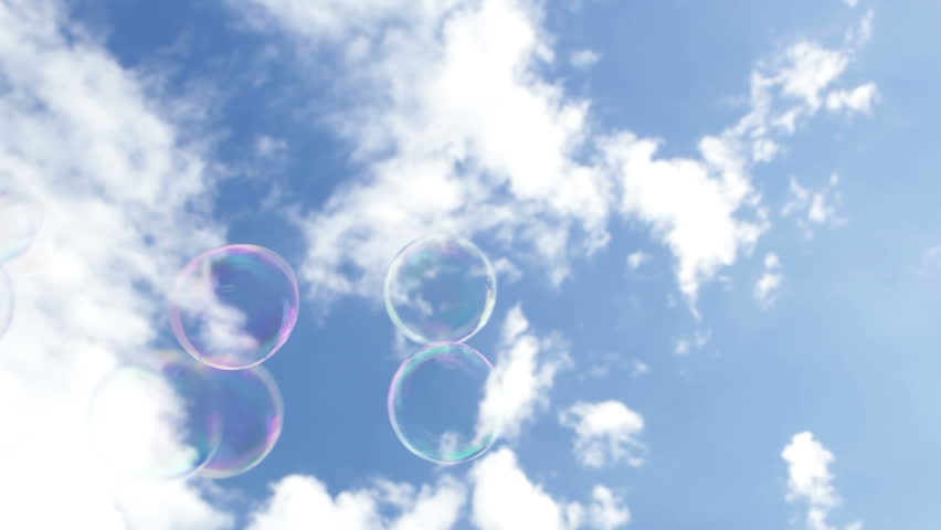 Soapy bubbles in the sky