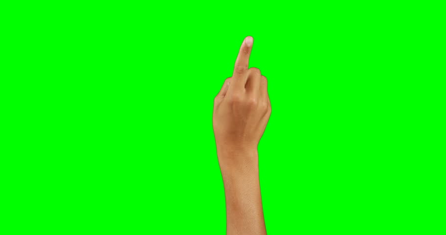 Hand pretending to use an invisible screen against chroma key background   Shutterstock HD Video #26261363