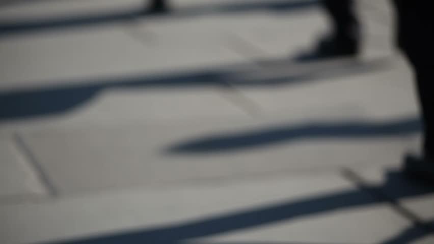 Crowd of pedestrian commuters on London Bridge 15   Shutterstock HD Video #2626823