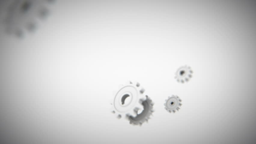 Connecting rotate gears 3d animation on light background | Shutterstock HD Video #26275721