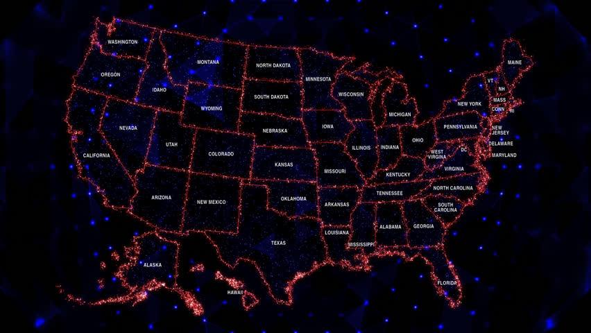 USA MAP (Loop)