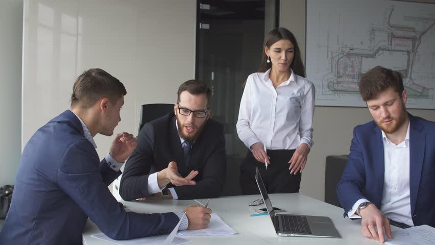 Creative business team meeting in modern start up office. | Shutterstock HD Video #26287775