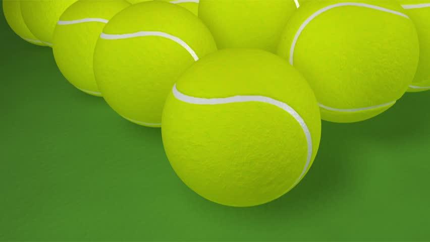 Tennis Balls bouncing