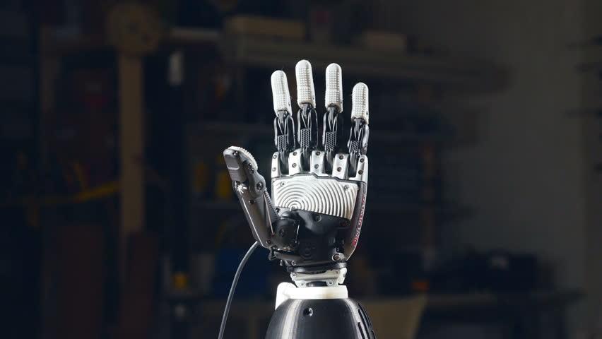 Robotic arm. Close-up.