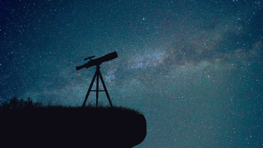 The Professional Telescope On The Stock Footage Video 100 Royalty Free 26307455 Shutterstock