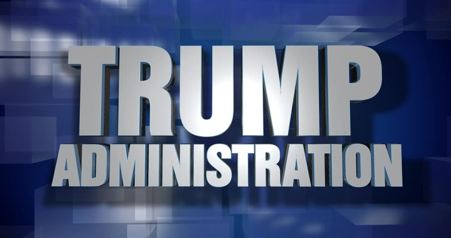 A blue dynamic 3D Trump Administration transition and title page animation. 5 and 2 second options included with optional luma matte for both.  | Shutterstock HD Video #26328011