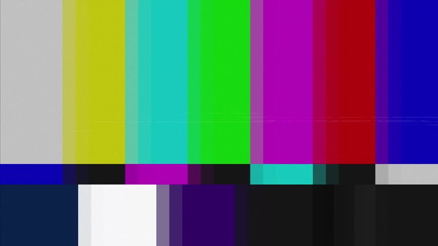 Distorted tv transmission, noisy signal of color bars (a television screen test pattern). Clean version with no text added.  | Shutterstock HD Video #26332205