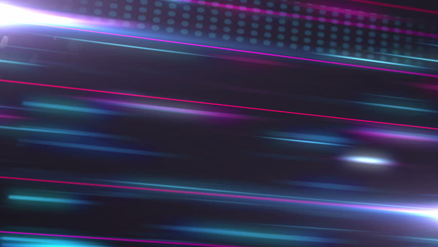 Abstract noised colored lines with dots flow animation in perspective on dark background.  | Shutterstock HD Video #26351582