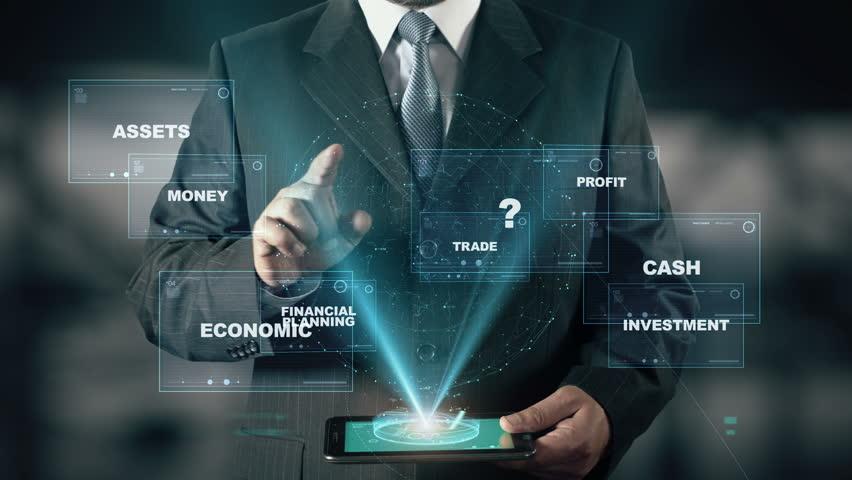 Businessman with Wealth Management hologram concept | Shutterstock HD Video #26370389