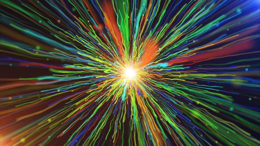 Colorful Line Streaks Burst