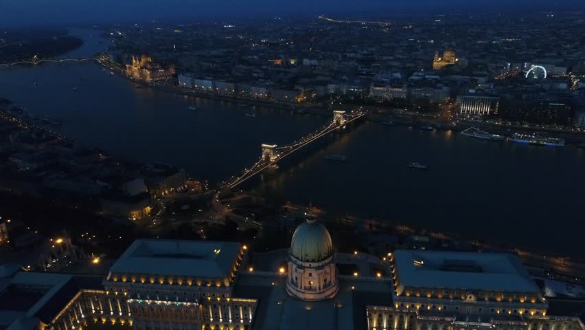 Aerial View Budapest Night    Shutterstock HD Video #26372480