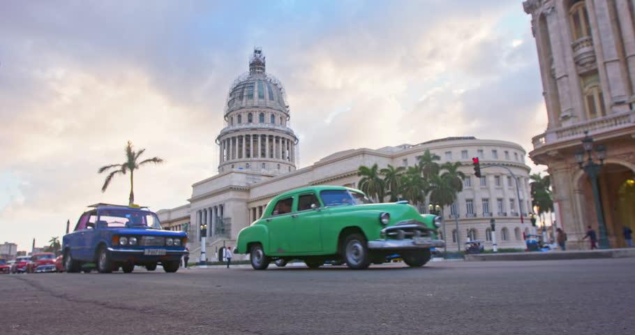 Traffic and El Capitolio building In Havana, Cuba | Shutterstock HD Video #26388320