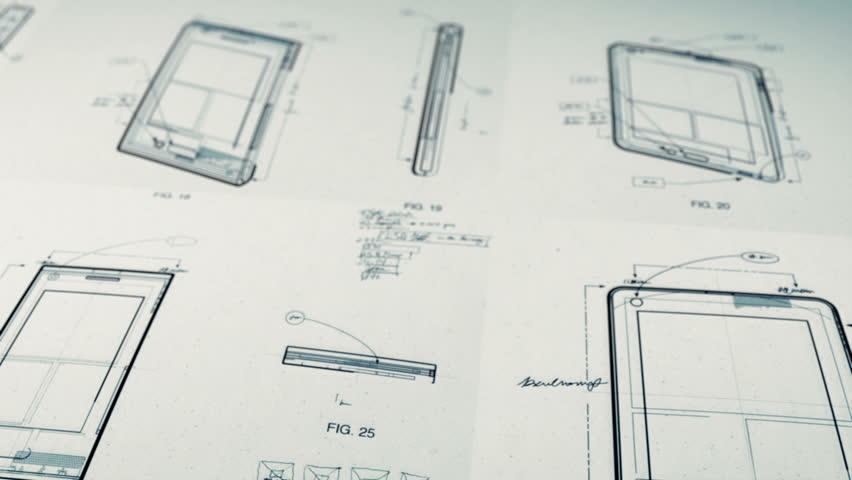 Technology Patents Drawing Animation   Shutterstock HD Video #2639090