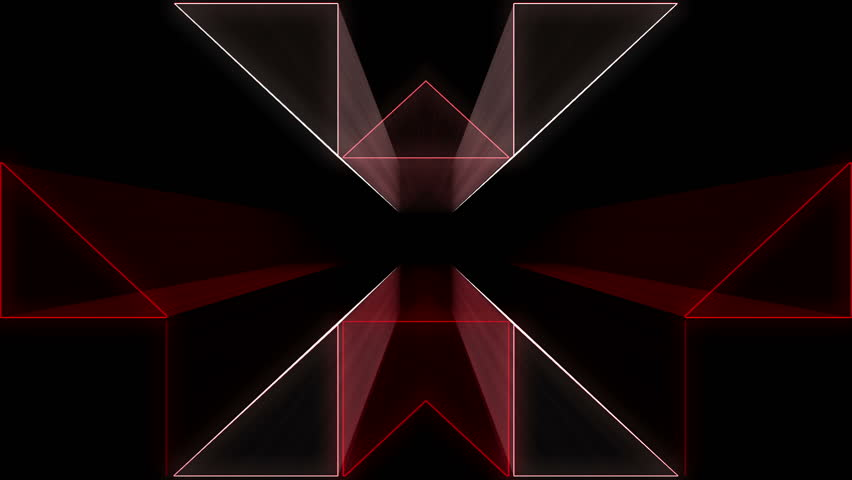 Red tunnel Abstract Vj Loop