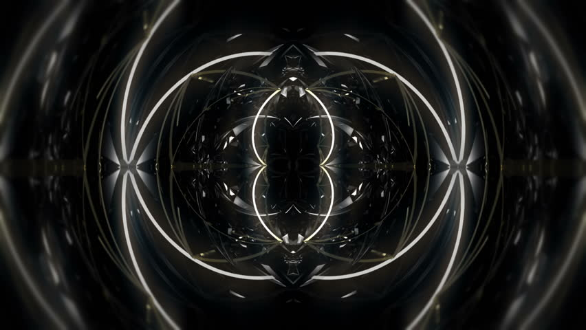 White circles forms Abstract   Vj Loop