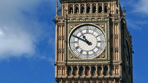 Big Ben On Sunny Day Closeup