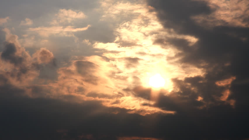 Heavenly sky time lapse with clouds and setting sun | Shutterstock HD Video #26424230