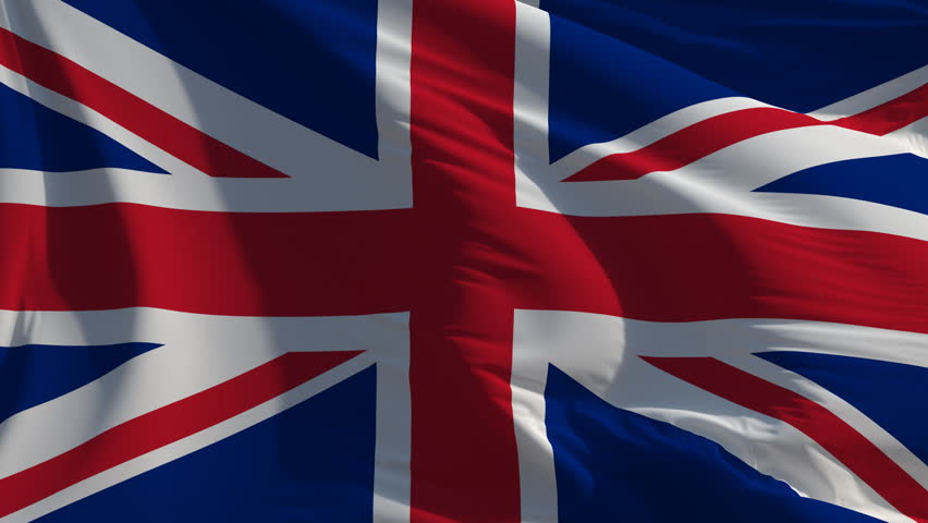 Flag of the UK: seamless loop animation (full screen)