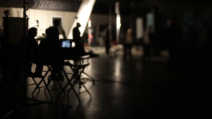Film production lens whacking school studio set